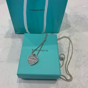 Tiffany Sterling Silver Heart Pendant Necklace